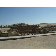 Sphinx Complex: Site: Giza; View: Sphinx Temple, Khafre Valley Temple