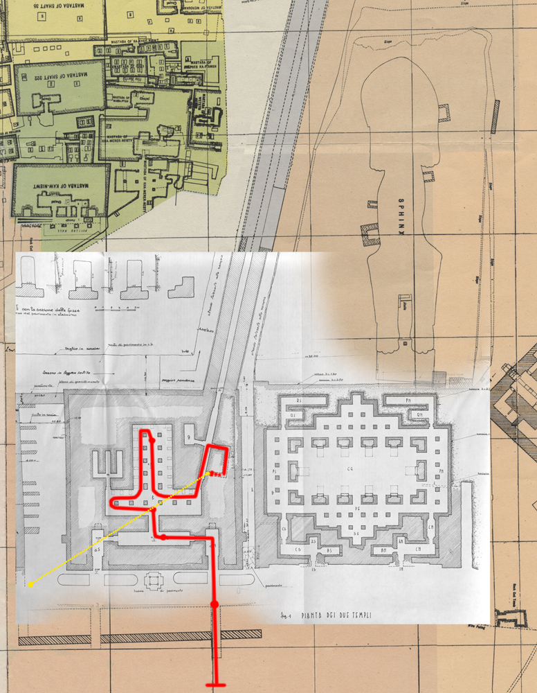 Maps and plans: Khafre Valley Temple and Sphinx Temple, plans