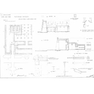 Maps and plans: Khafre Valley Temple, plans and sections