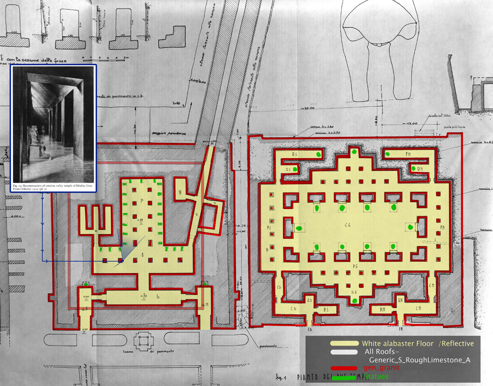 Maps and plans: Khafre Valley Temple, plan