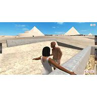 Central Field model: Site: Giza; View: Khentkaus Pyramid Town (model)