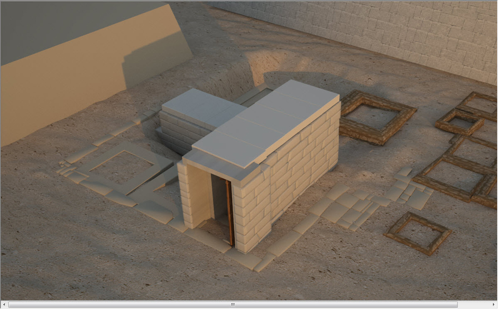 Eastern Cemetery model: Site: Giza; View: G 7101 (model)