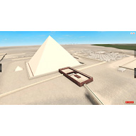 Khafre Pyramid Complex model: Site: Giza; View: Khafre Pyramid Temple (model)