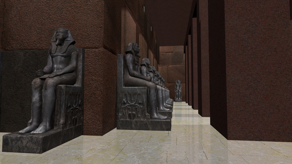 Khafre Pyramid Complex model: Site: Giza; View: Khafre Valley Temple (model)