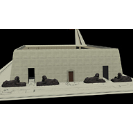 Khafre Valley Temple model: Site: Giza; View: Khafre Valley Temple (model)