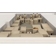 Menkaure Pyramid Complex model: Site: Giza; View: Menkaure Valley Temple (model)