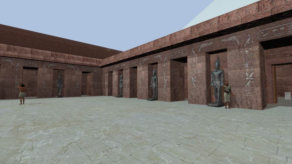 Sphinx Complex model: Site: Giza; View: Sphinx Temple (model)