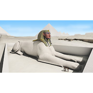 Sphinx Complex model: Site: Giza; View: Sphinx (model)