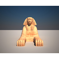 Sphinx model: Site: Giza; View: Sphinx (model)