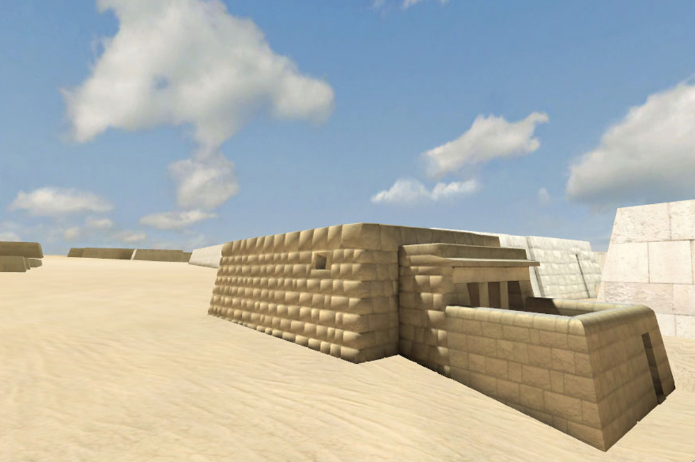 Western Cemetery model: Site: Giza; View: G 2100 Complex (model)