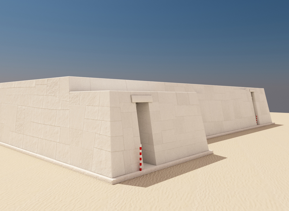 Western Cemetery model: Site: Giza; View: G 2110 (model)