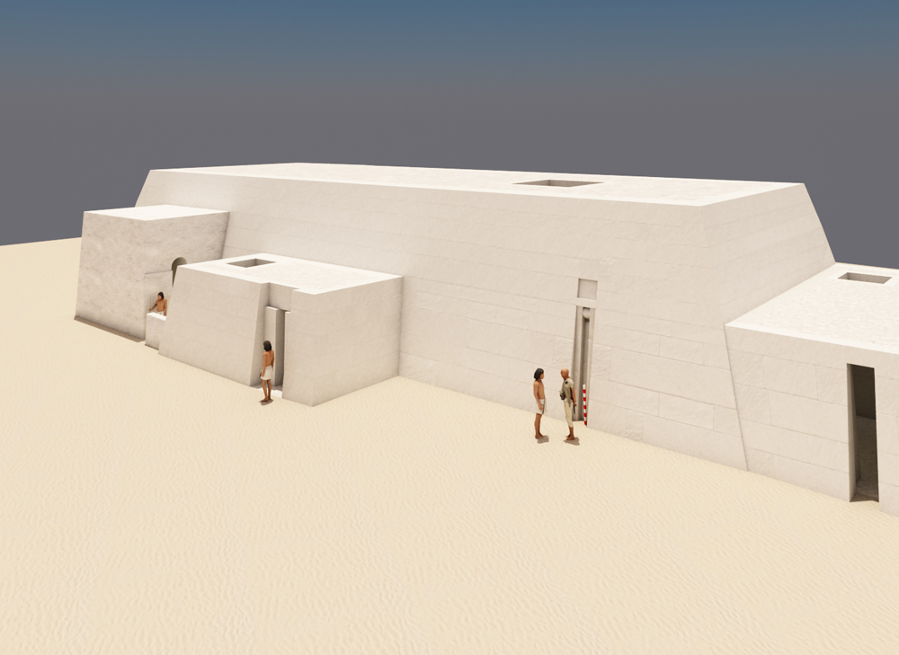 Western Cemetery model: Site: Giza; View: G 2155 (model)