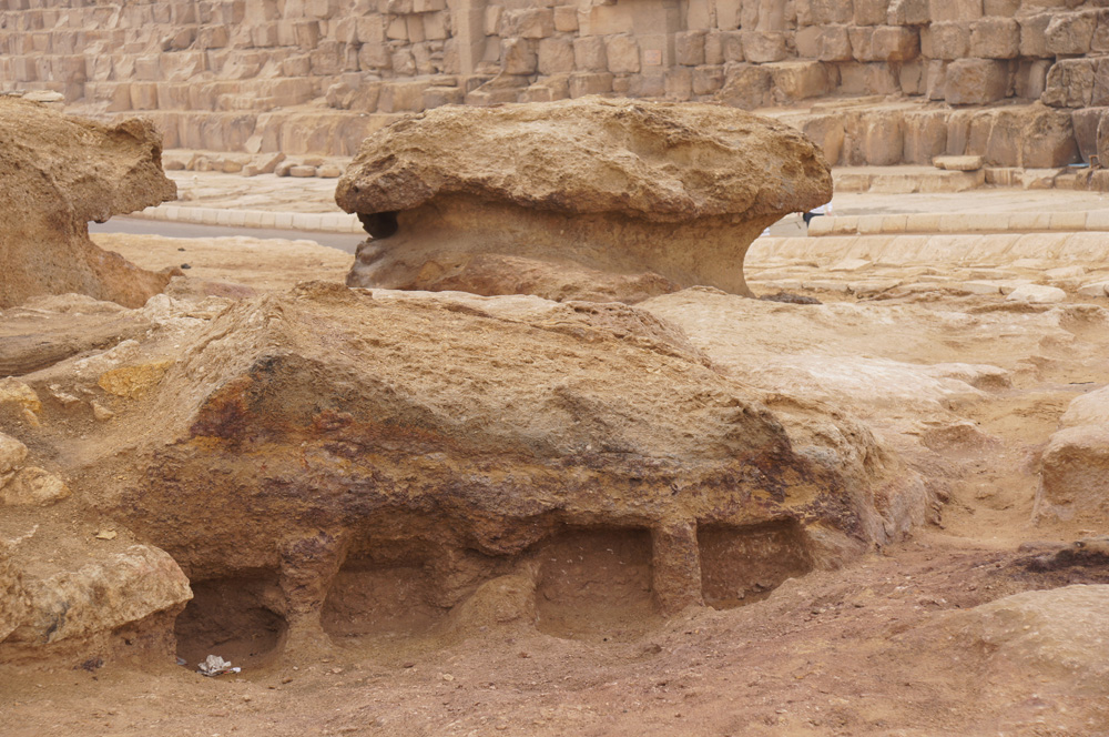 Khufu Pyramid Complex, Western Cemetery: Site: Giza; View: Western Cemetery, Khufu Pyramid
