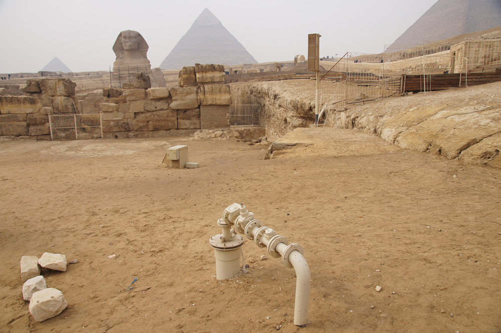Sphinx Complex: Site: Giza; View: Sphinx, Sphinx Temple