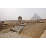 Sphinx Complex: Site: Giza; View: Sphinx, Temple of Amenhetep II