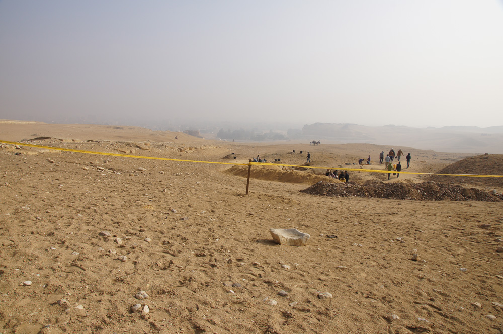 Menkaure Pyramid Complex: Site: Giza; View: Menkaure Causeway