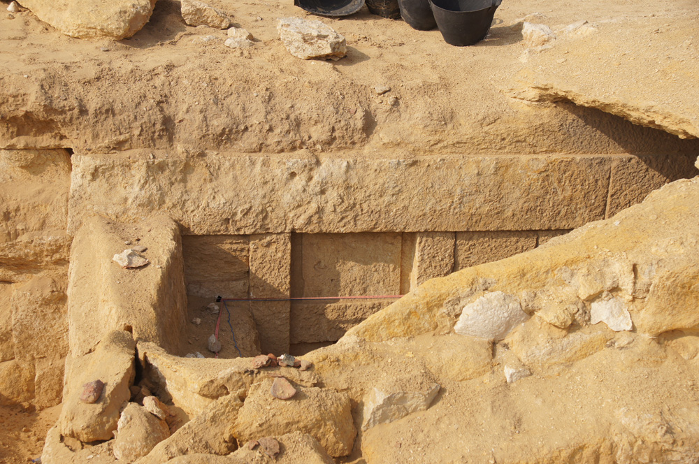 Menkaure Pyramid Complex: Site: Giza; View: Menkaure Pyramid Complex
