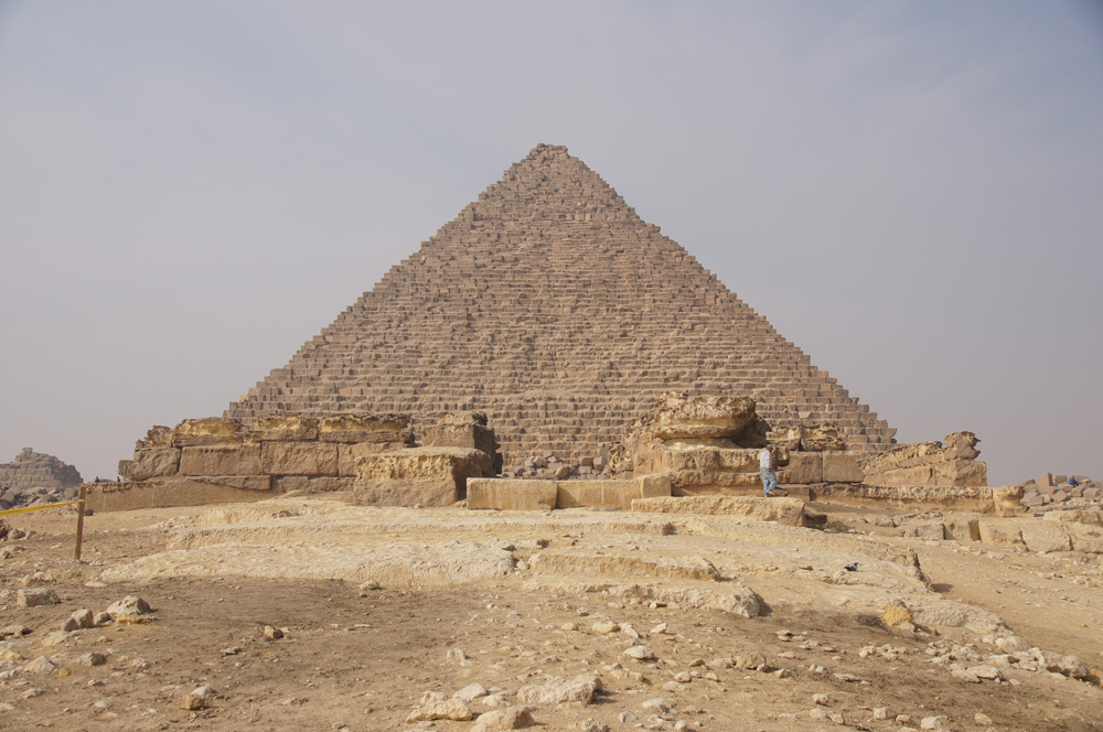 Menkaure Pyramid Complex: Site: Giza; View: Menkaure Pyramid, Menkaure Causeway, Menkaure Pyramid Temple