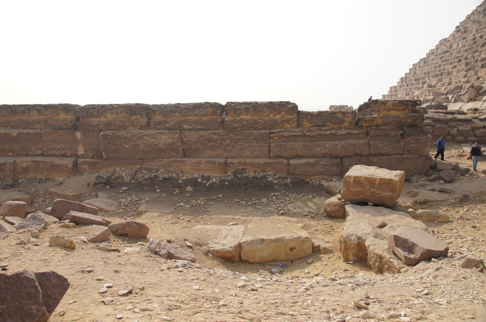 Menkaure Pyramid Complex: Site: Giza; View: Menkaure Pyramid Temple, Menkaure Pyramid