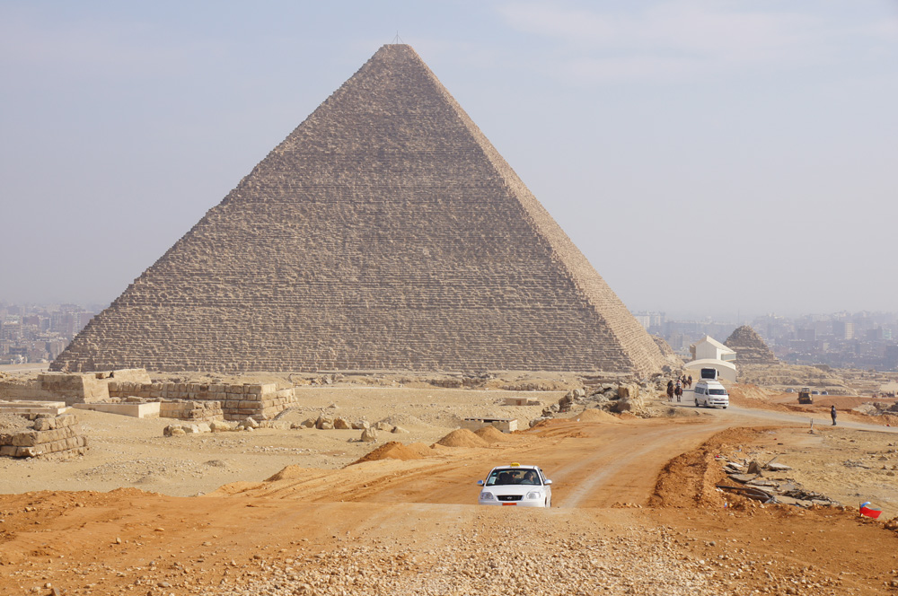General View: Site: Giza; View: Khufu Pyramid, G 80, G 6027, G 6028, G 6050, G 6020, G 6010, Khufu Boat Museum, G I-South Cemetery, G I-c