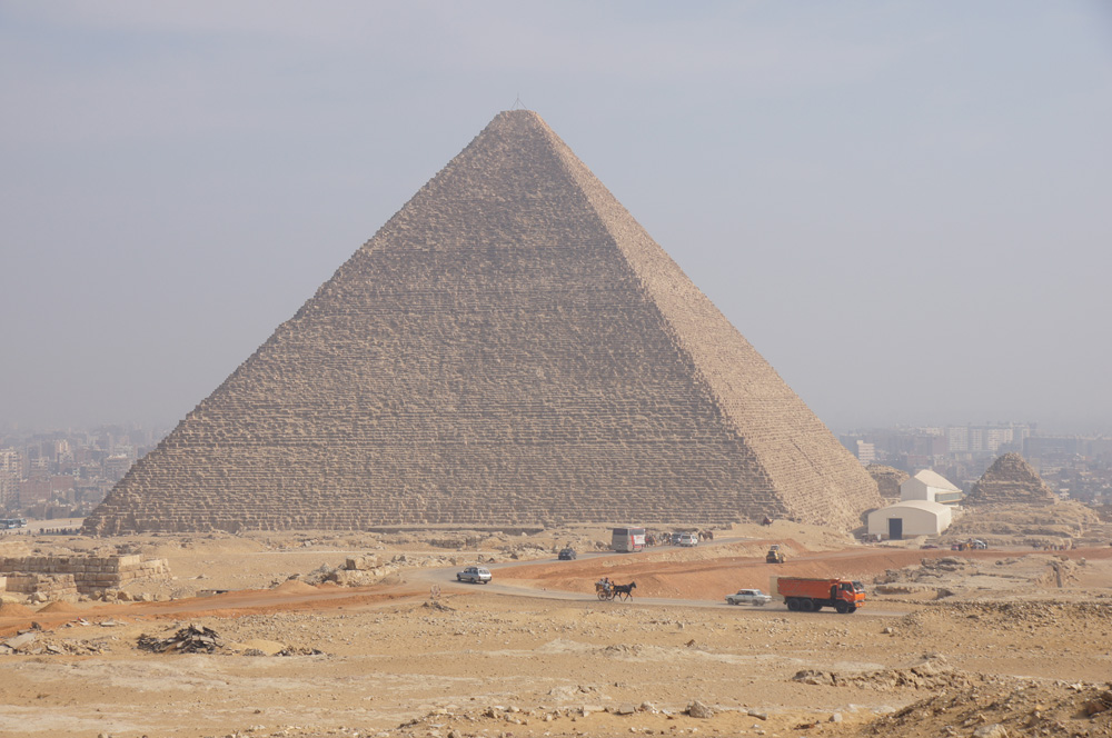 General View: Site: Giza; View: Khufu Pyramid, G I-South Cemetery, Khufu Boat Museum, G I-c, G 6050, G 6010