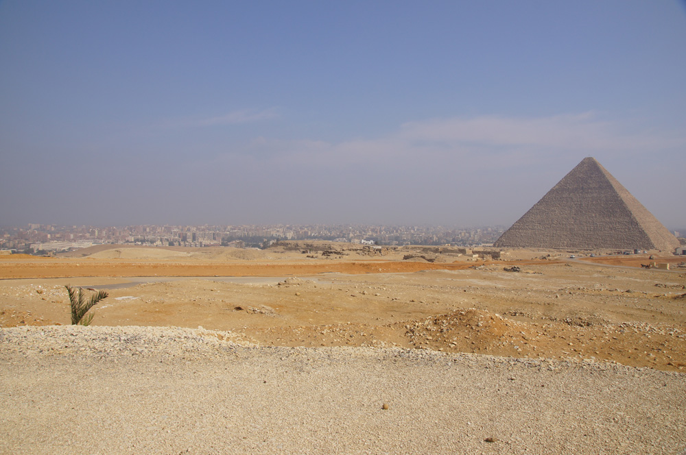 General View: Site: Giza; View: Khufu Pyramid, Western Cemetery