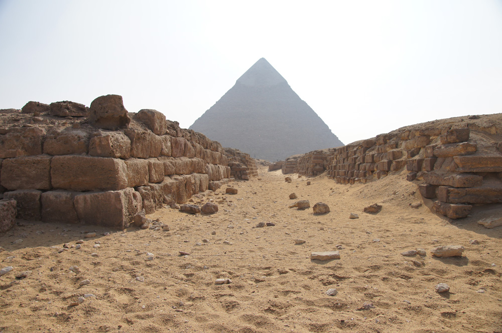 Western Cemetery: Site: Giza; View: G 4260, G 4360, Khafre Pyramid