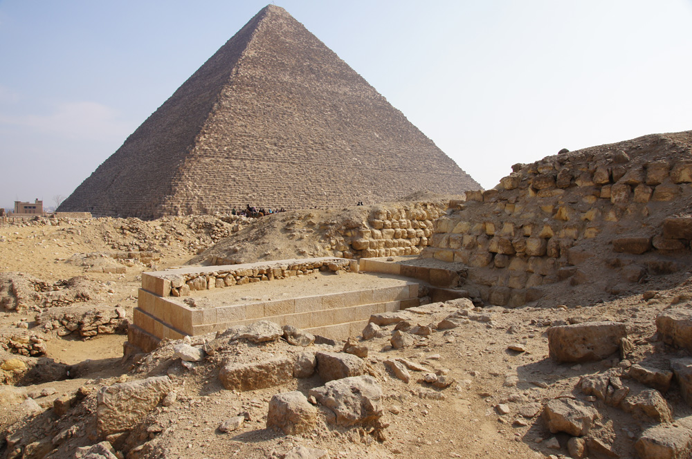 Western Cemetery: Site: Giza; View: G 2151, G 2150, G 2170, Khufu Pyramid