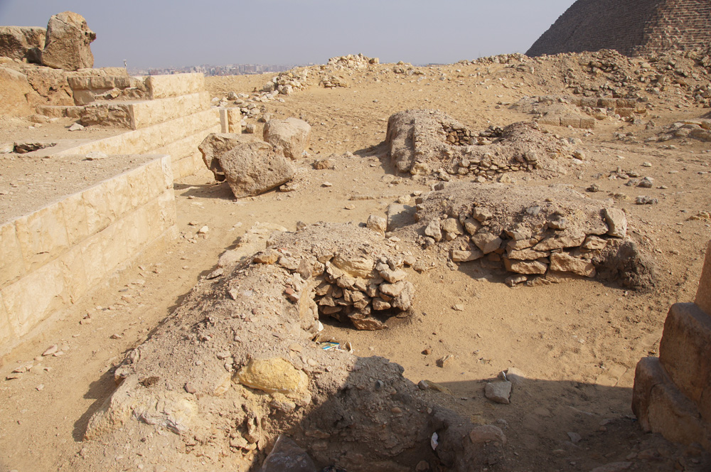 Western Cemetery: Site: Giza; View: G 2152, G 2153, G 2138, G 2156', Khufu Pyramid