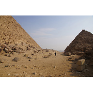 Menkaure Pyramid Complex: Site: Giza; View: Menkaure Pyramid, G III-a