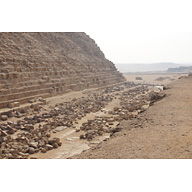 Khafre Pyramid Complex: Site: Giza; View: Khafre Pyramid, Menkaure Pyramid Temple