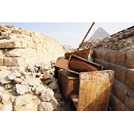 Western Cemetery: Site: Giza; View: G 1201, S 2539/2541, Khufu Pyramid