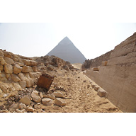 Western Cemetery: Site: Giza; View: G 4140, G 4150, G 4160, G 4000, Khafre Pyramid