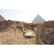 Western Cemetery: Site: Giza; View: G 2184, Khafre Pyramid