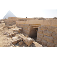 Western Cemetery: Site: Giza; View: G 2197, G 5190, Khafre Pyramid