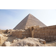 Western Cemetery: Site: Giza; View: G 2353, G 2360, Khufu Pyramid
