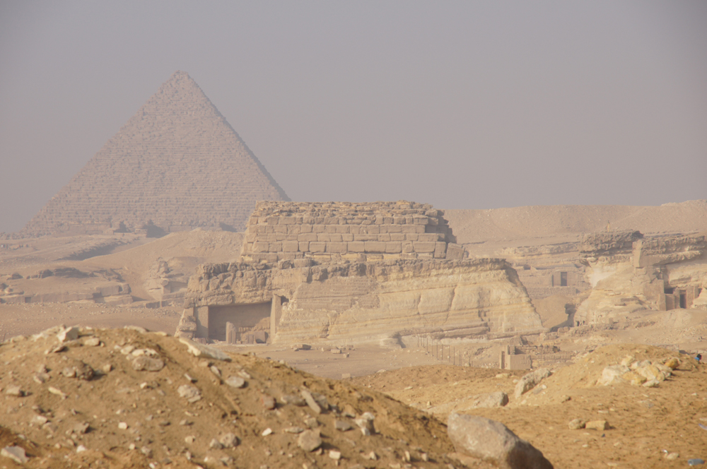 Central Field (Hassan): Site: Giza; View: G 8400, Menkaure Pyramid