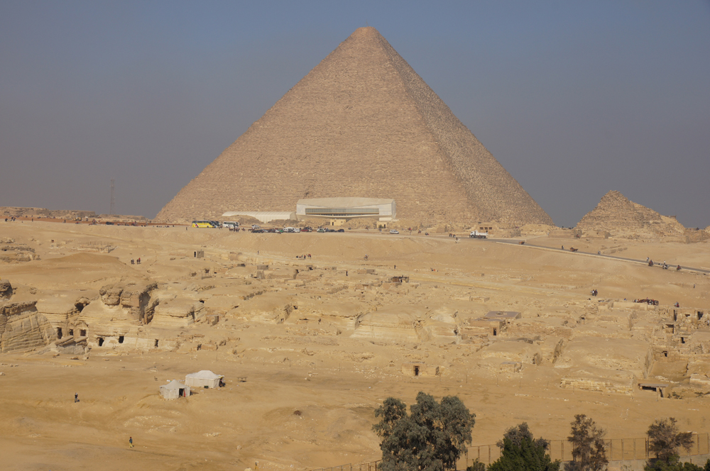 Central Field (Hassan): Site: Giza; View: Central Field, G 8400, Khufu Pyramid