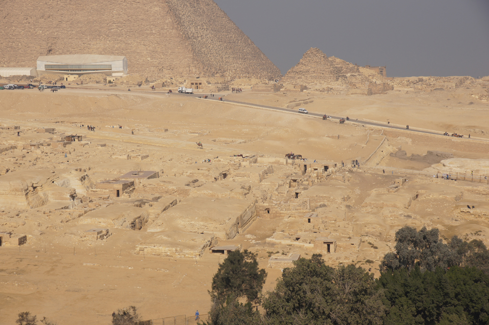 Central Field (Hassan): Site: Giza; View: Central Field, Khufu Pyramid, G I-c