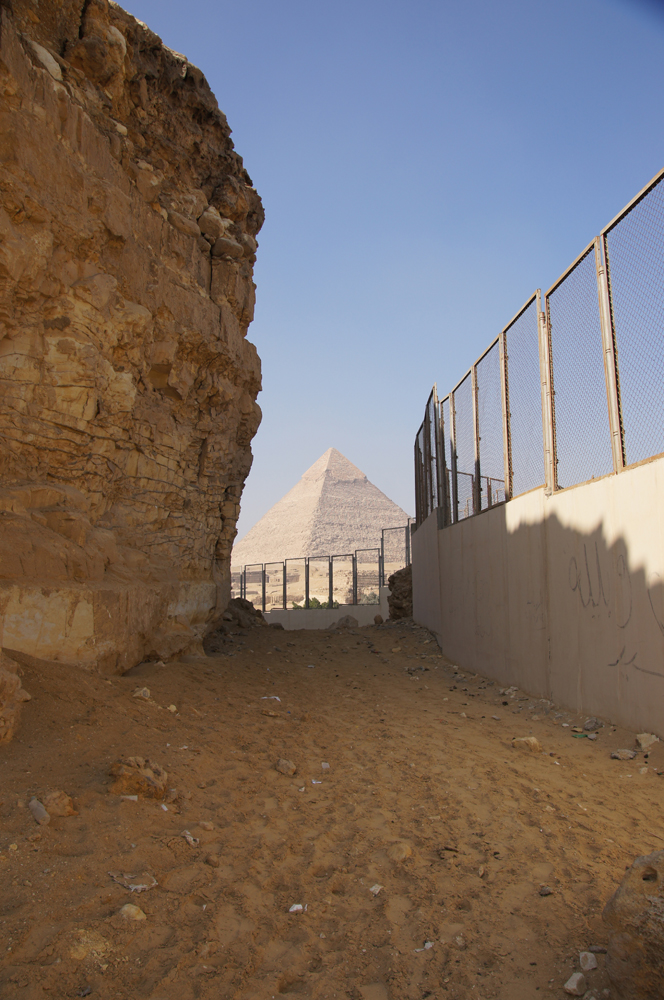 South Giza: Site: Giza; View: Southern Mount, Muslim Cemetery, Khafre Pyramid