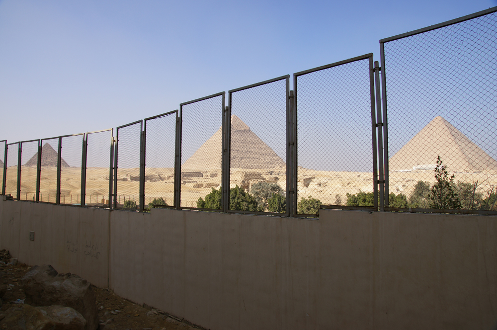 General View: Site: Giza; View: Giza Plateau, Muslim Cemetery