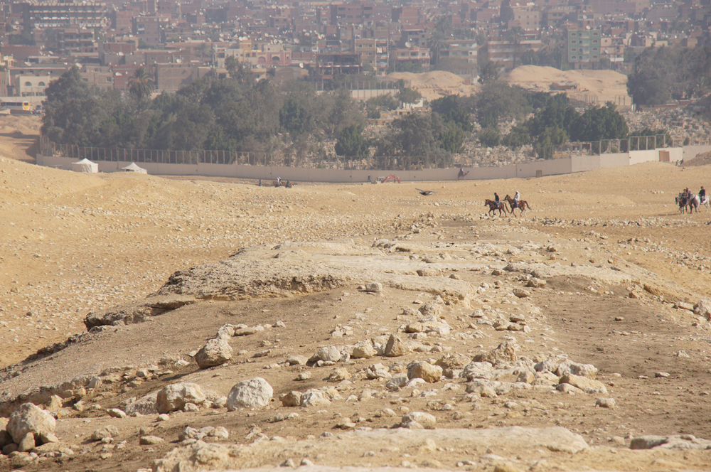 Menkaure Pyramid Complex: Site: Giza; View: Menkaure Causeway, Muslim Cemetery