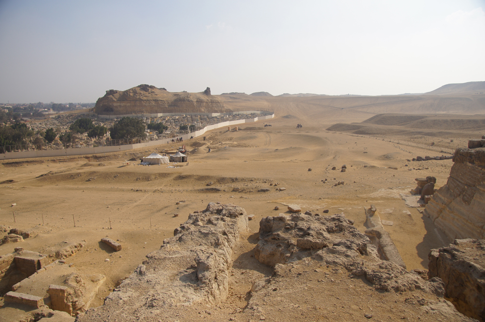 Central Field (Hassan): Site: Giza; View: G 8400, G 8420, G 8606, Muslim Cemetery, Southern Mount