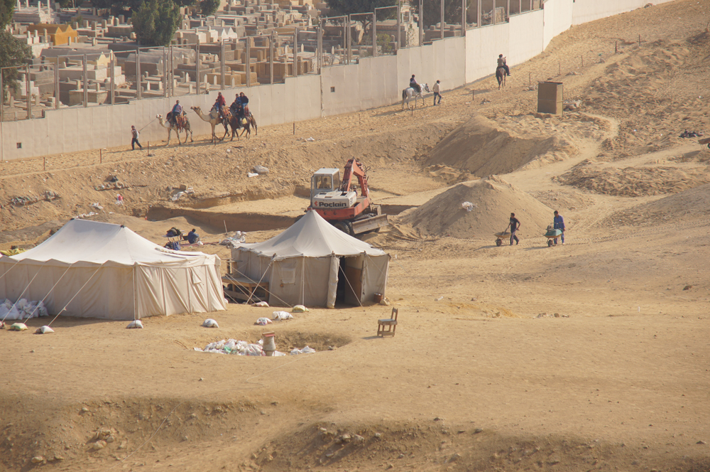 Central Field (Hassan): Site: Giza; View: Khentkaus Town, Muslim Cemetery