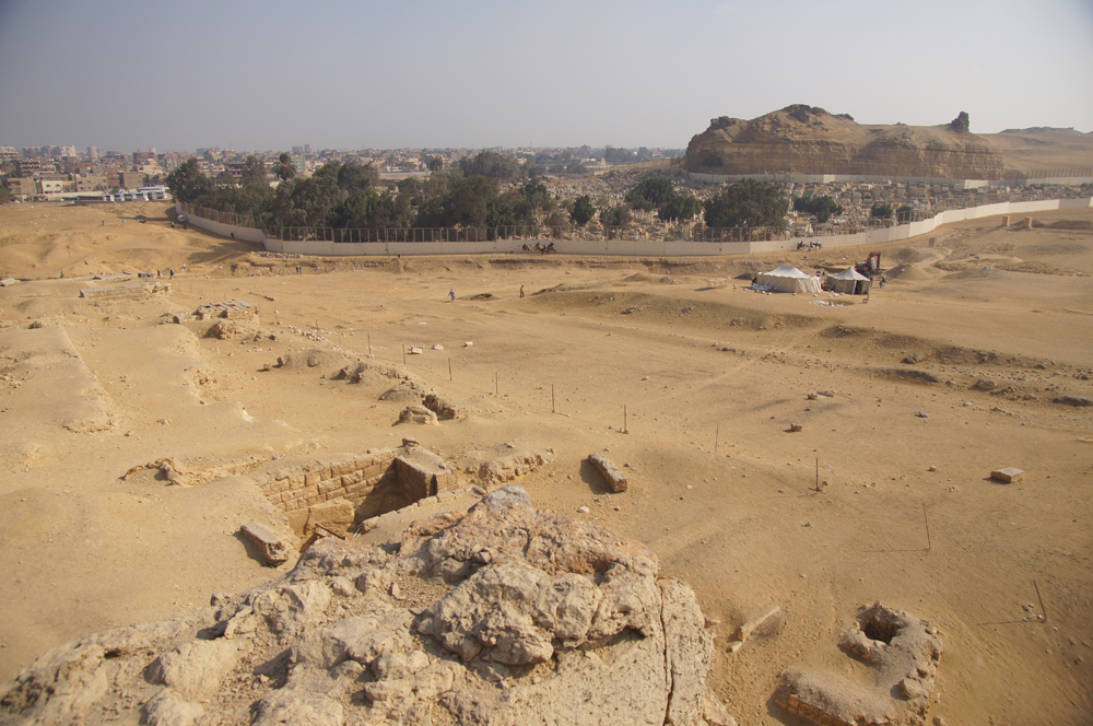 Central Field (Hassan): Site: Giza; View: G 8622, G 8640, G 8698, G 8860, Muslim Cemetery, Southern Mount, Khentkaus Town