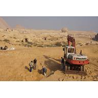 Central Field (Hassan): Site: Giza; View: Khentkaus Town, Sphinx
