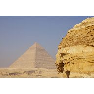 General View: Site: Giza; View: Southern Mount, Khafre Pyramid