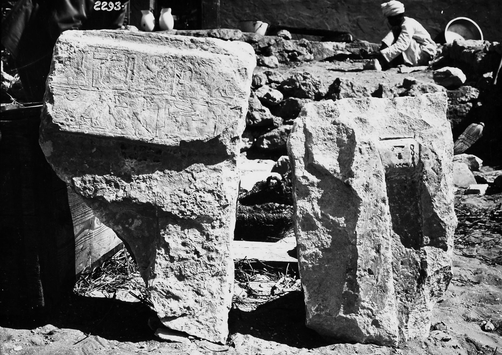 Object(s) photograph: Site: Giza; view: Irienre & Ankhemre (G 2156b, G 2156c)