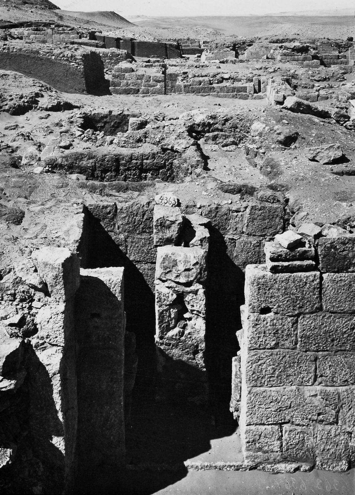 Western Cemetery: Site: Giza; View: S 4360/4418, Sanekhen, S 4446, S 4448