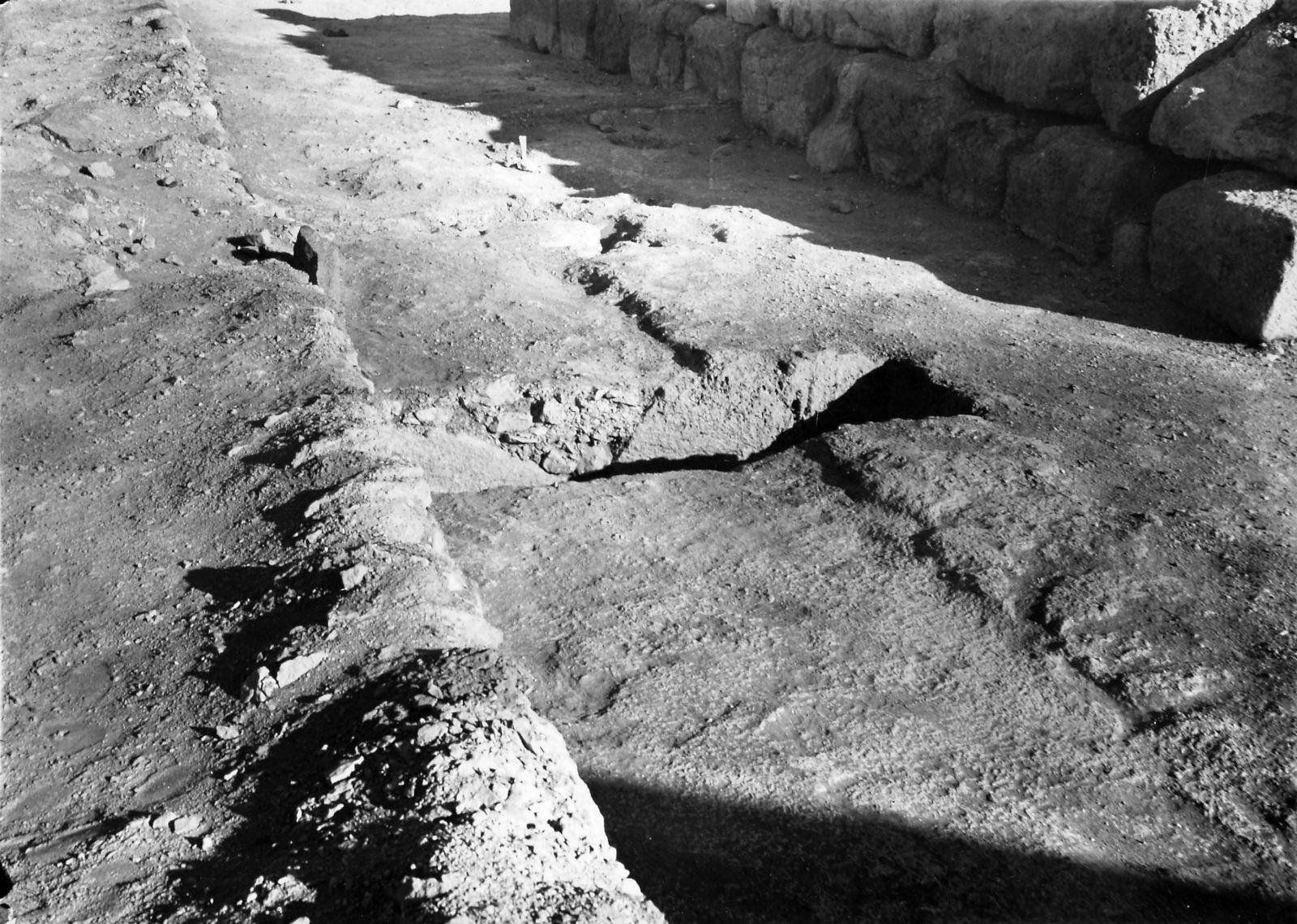 Khufu Pyramid Complex: Site: Giza; View: Mastaba VIII, Khufu Pyramid Enclosure Wall